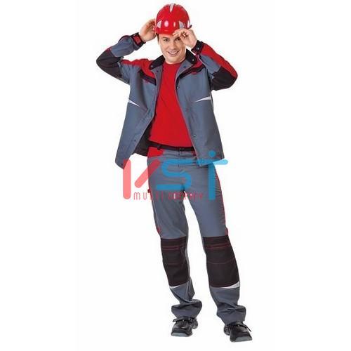 Брюки СПЕЦ 101-0202-02 серый с красным и черным