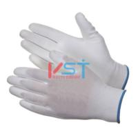 Перчатки нейлоновые с полиуретановым покрытием PU 1001