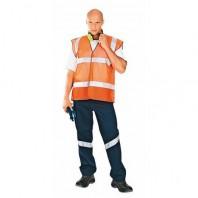 Жилет АЭРОН 104-0008-65 оранжевый флуоресцентный