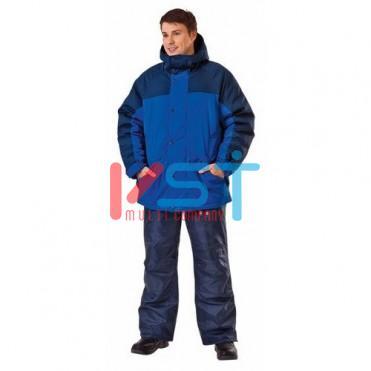 Куртка РУССКАЯ АЛЯСКА 103-0002-02 васильковый с темно-синим