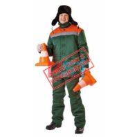Куртка ЗИМОВКА 103-0105-01 зеленый с оранжевый