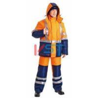 Костюм СПЕКТРОН 104-0021-01 флуоресцентный оранжевый с темно-синим