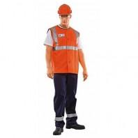 Жилет РЖД 104-0017-65 флуоресцентный оранжевый