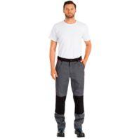 Брюки СПЕЦ рабочие мужские 101-0202-02 серый с красным и черным
