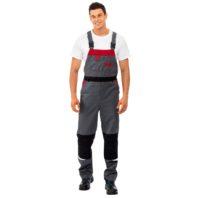 Полукомбинезон СПЕЦ рабочий мужской 101-0200-02 серый с красным