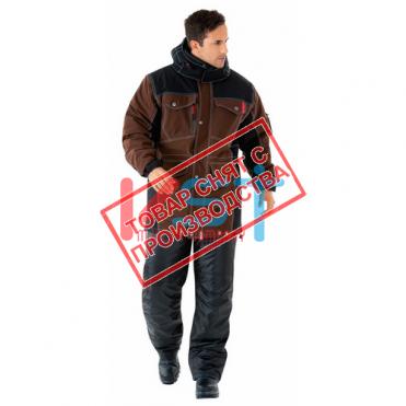 Куртка САБВЕЙ 103-0121-03 коричневый с черным