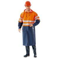 Плащ НЕПТУН тип РА с СВП 104-0024-02 оранжевый с темно-синим