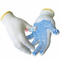 перчатки ХБ с ПВХ 10 класс 3 нити белые
