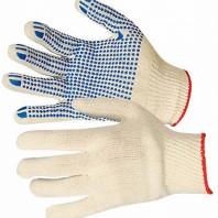перчатки ХБ с ПВХ 10 класс 4 нити белые