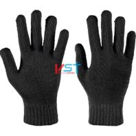 перчатки ХБ 10 класс 5 нитей черные без ПВХ