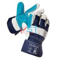Перчатки спилковые комбинированные G354
