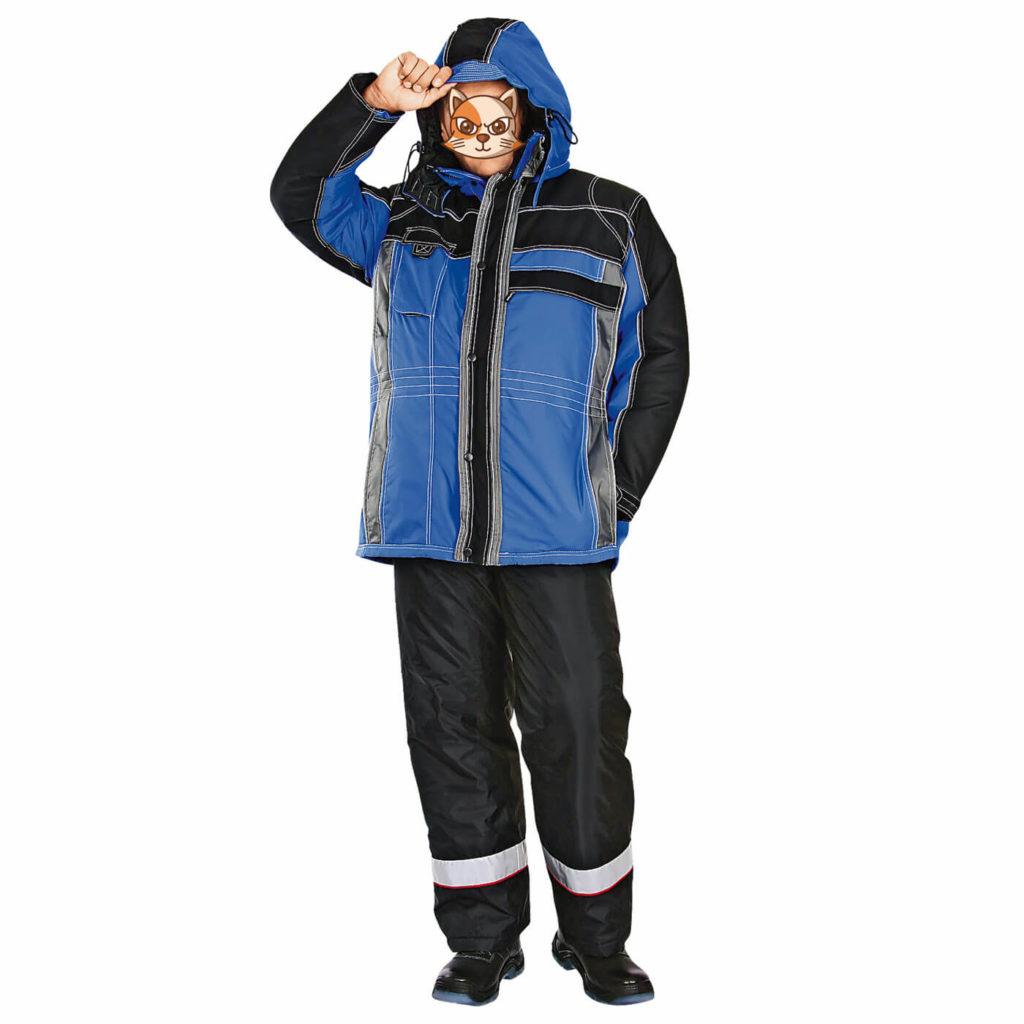 Куртка НЕВАДА зимняя синяя утепленная мужская