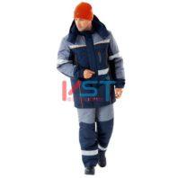 Куртка СПЕЦ утепленная темно-синий с серым