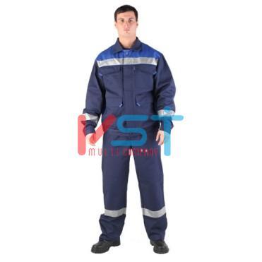 Костюм антистатический ЭЛЕКТРОН 030 – 80 темно-синий с синими вставками