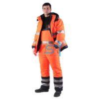 Костюм САТУРН утепленный сигнальный 330-36 оранжевый