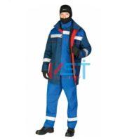 Куртка-накидка ЭЛЕКТРА КН-26 СО 113-0014-02 васильковый с красным