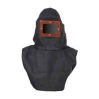 Шлем пескоструйщика ЛИОТ-2000 (комбинированный, текстиль/спилок)