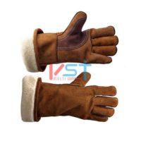 Перчатки-краги спилковые утепленные ПОЛАР ГАРД