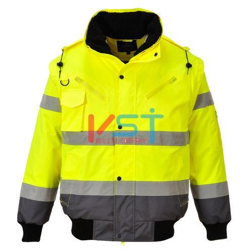 Куртка-бомбер контрастная PORTWEST C465 желтая/серая