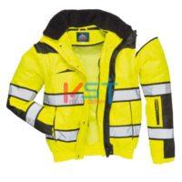 Куртка-бомбер классическая PORTWEST C466 желтая/черная
