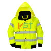 Куртка-бомбер 3 в 1 светоотражающая PORTWEST C467 желтая