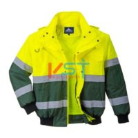 Куртка-бомбер светоотражающая PORTWEST X C565 желтая/зеленая
