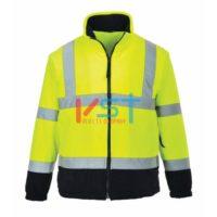Куртка флисовая светоотражающая двухцветная PORTWEST F301 желтая