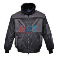 Куртка двухцветная PORTWEST ПИЛОТ PJ20 черная/серая