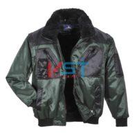 Куртка двухцветная PORTWEST ПИЛОТ PJ20 зеленая/черная