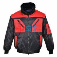 Куртка двухцветная PORTWEST ПИЛОТ PJ20 черная/красная