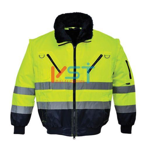 Куртка светоотражающая 3 в 1 PORTWEST ПИЛОТ PJ50 желтая