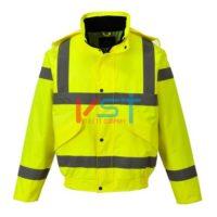 Куртка-бомбер светоотражающая воздухопроницаемая PORTWEST RT62 желтая