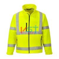 Куртка светоотражающая из софтшелла (3 сл) PORTWEST S424 желтая