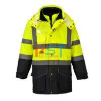 Куртка светоотражающая контрастная 7 в 1 PORTWEST TRAFFIC S426 желтая