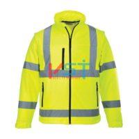 Куртка светоотражающая из софтшелла (3 сл) PORTWEST S428 желтая
