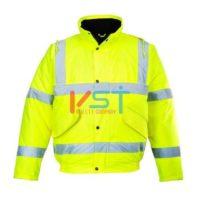 Куртка-бомбер светооражающая PORTWEST S463 желтая