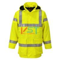 Куртка светоотражающая огнестойкая водонепроницаемая легкая PORTWEST BIZFLAME S774 желтая
