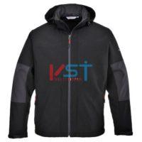 Куртка из софтшелла с капюшоном (3 слоя) PORTWEST TK53 черная