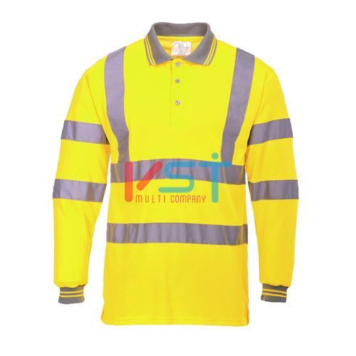 Поло светоотражающее с длинным рукавом PORTWEST S277 желтое