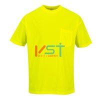 Футболка светоотражающая c коротким рукавом и карманом PORTWEST S578 желтая