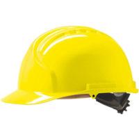 Каска защитная JSP МК7 без вентиляции желтая
