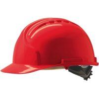 Каска защитная JSP МК7 без вентиляции красная