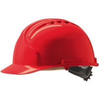 Каска защитная JSP МК7 с вентиляцией красная