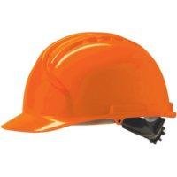 Каска защитная JSP МК7 без вентиляции оранжевая