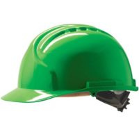 Каска защитная JSP МК7 без вентиляции зеленая