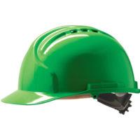 Каска защитная JSP МК7 с вентиляцией зеленая