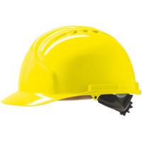 Каска защитная JSP МК7 с вентиляцией желтая