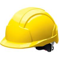 Каска защитная JSP ЭВОЛАЙТ AJA170-000-200 с храповиком желтая