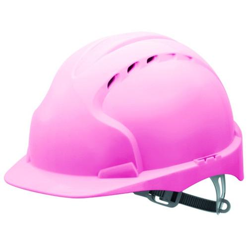 Каска розовая строительная JSP ЭВО 2 AJF030-003-900 с вентиляцией