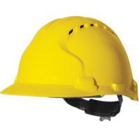 Каска защитная JSP ЭВО 8 с вентиляцией желтая AHU150-000-200